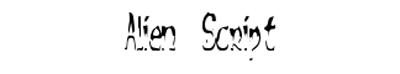 Fonts - Alien-Script